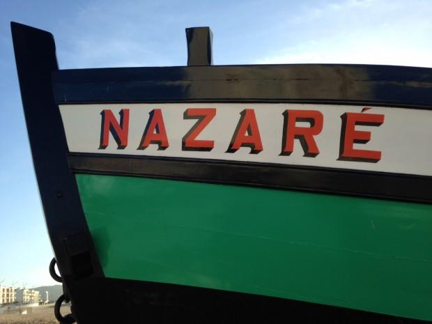 Boot op strand Nazaré
